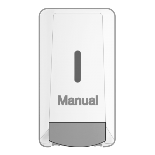 Manual liquid chalk dispenser in white