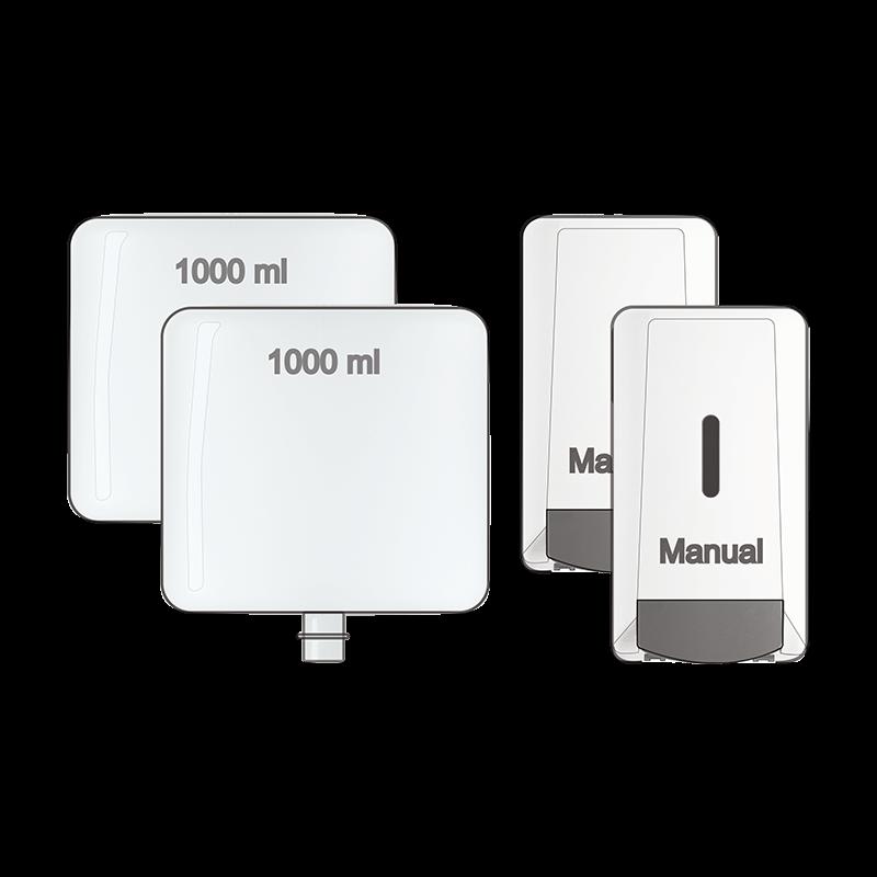 2 Liquid Chalk Cartridge 2 Manual Dispenser Kit